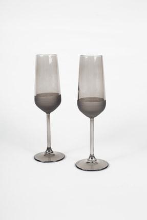 Rakle Matte 2'li Şampanya Kadehi Seti Füme 195 Cc