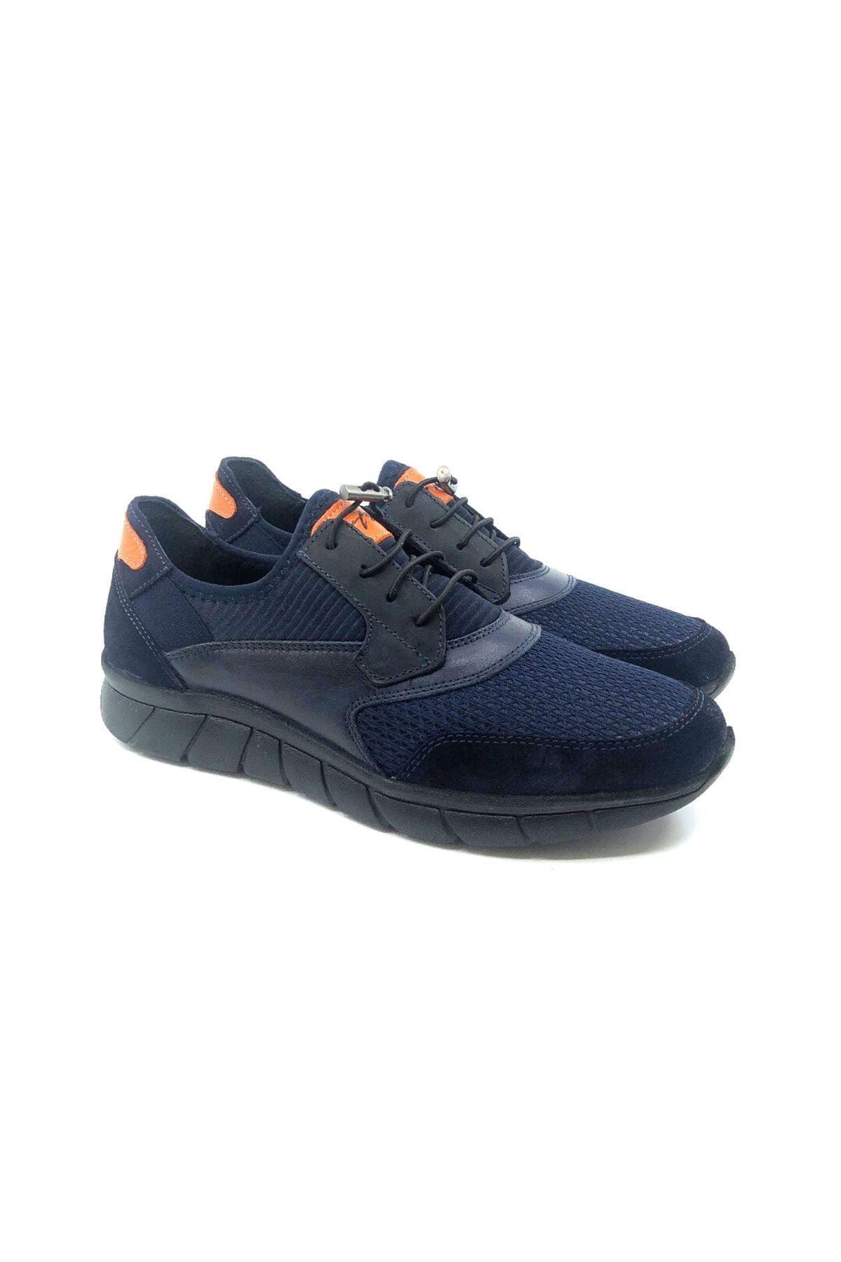 TETRİ Erkek Lacivert Baran Aydın Atak Hakiki Deri Sneakers 1