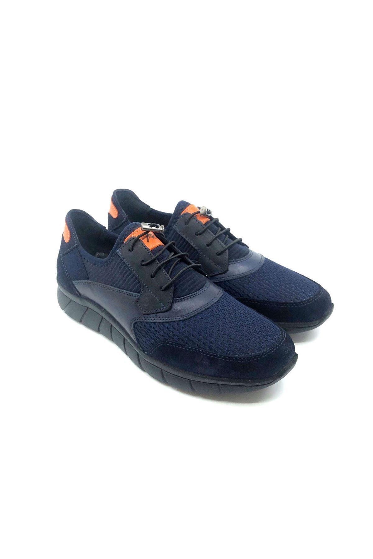 TETRİ Erkek Lacivert Baran Aydın Atak Hakiki Deri Sneakers 2