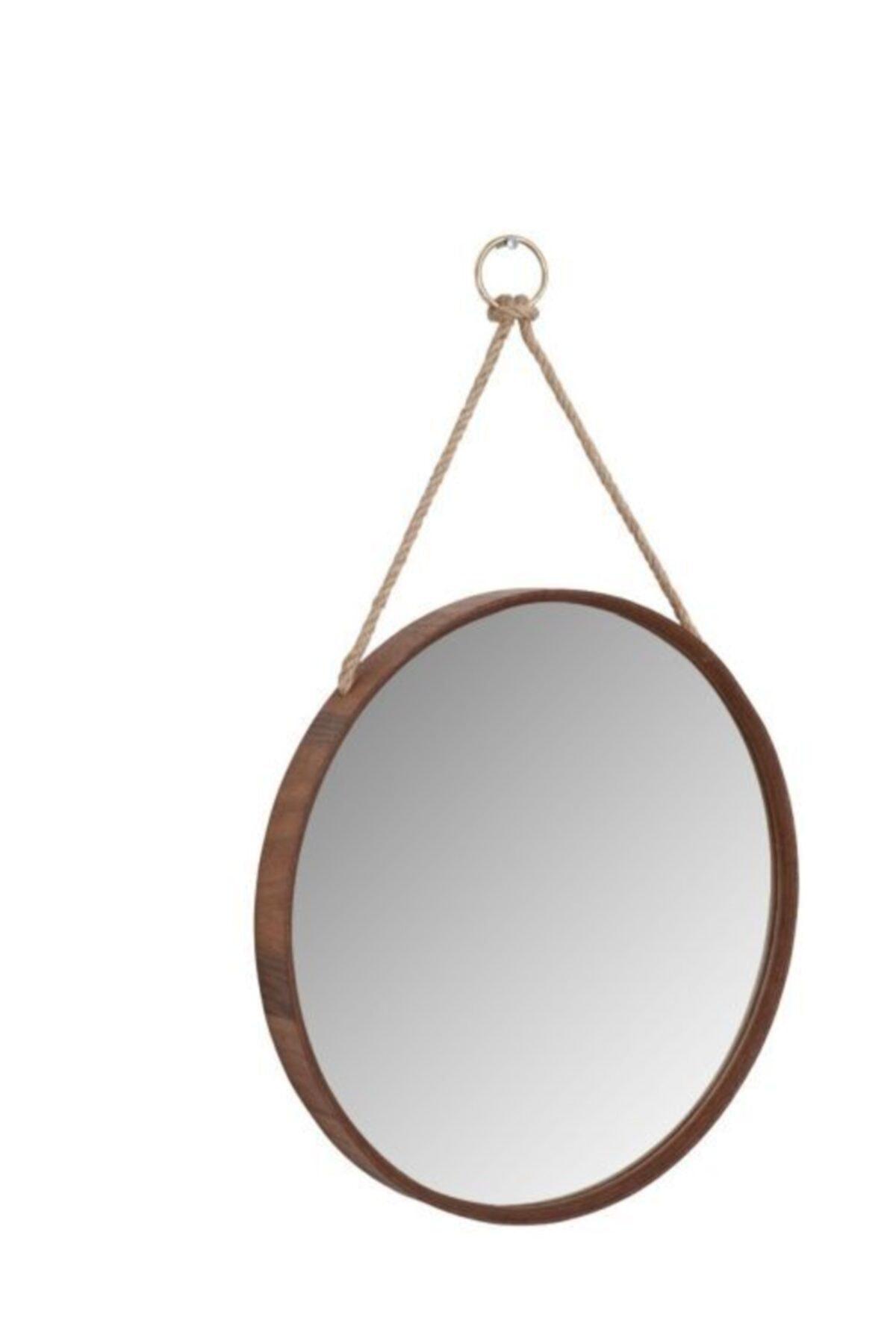 Nandy Home Ahşap Çerçeveli Ipli Ayna 1