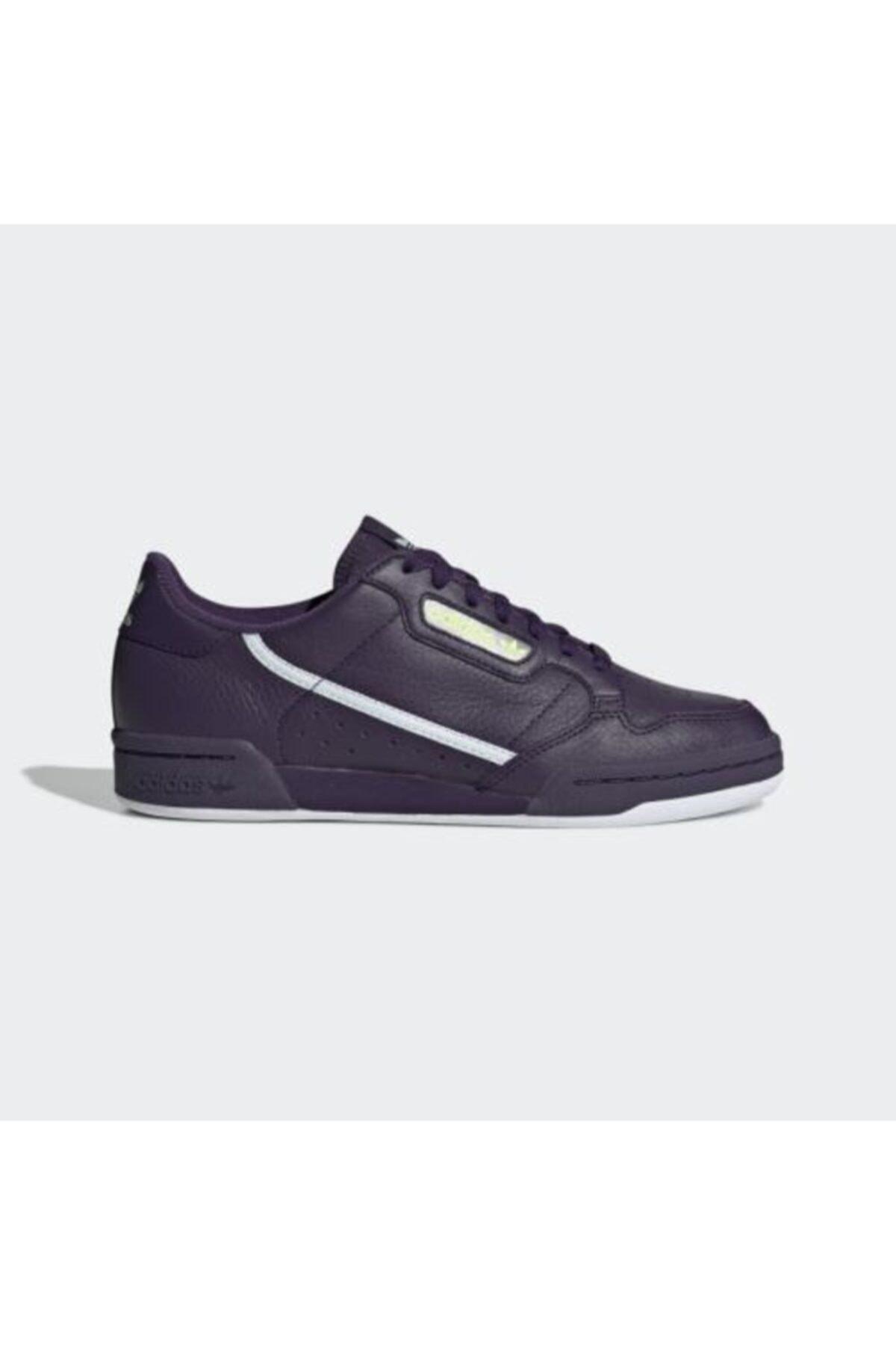 adidas Unisex Mor Continental 80 W Günlük Spor Ayakkabı 1