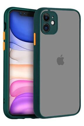 Apple Iphone 11 Kılıf Şeffaf Mat Kamera Köşe Korumalı Pürüzsüz Sert