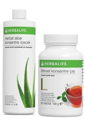 Herbalife Set Aloe Konsantre Içecek Klasik 100 g Çay