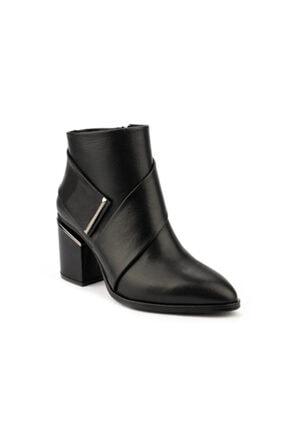 Emel Ayakkabı Kadın Siyah Tasarım Topuklu Şık Ayakkabı