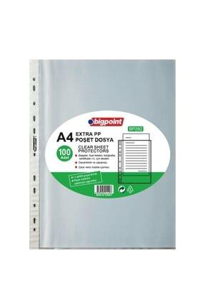 Bigpoint Poşet Dosya Extra 50 Mikron 100'lü Paket