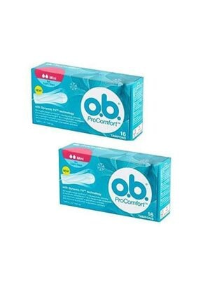 o.b. Johnsons Pro Comfort Mini Tampon 16'lı 2 Adet