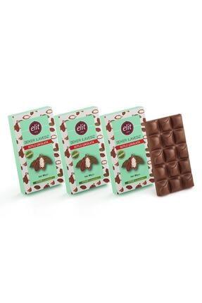 Elit Çikolata Şeker İlavesiz ve Prebiyotik Sütlü Çikolata 60gr  3'lü Set