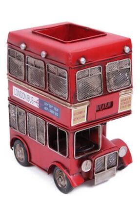 TrendHediye Dekoratif Metal Araba Londra Şehir Otobüsü Kalemlik