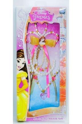 Bella Disney Prenses Belle Asa-kolye-bileklik Seti
