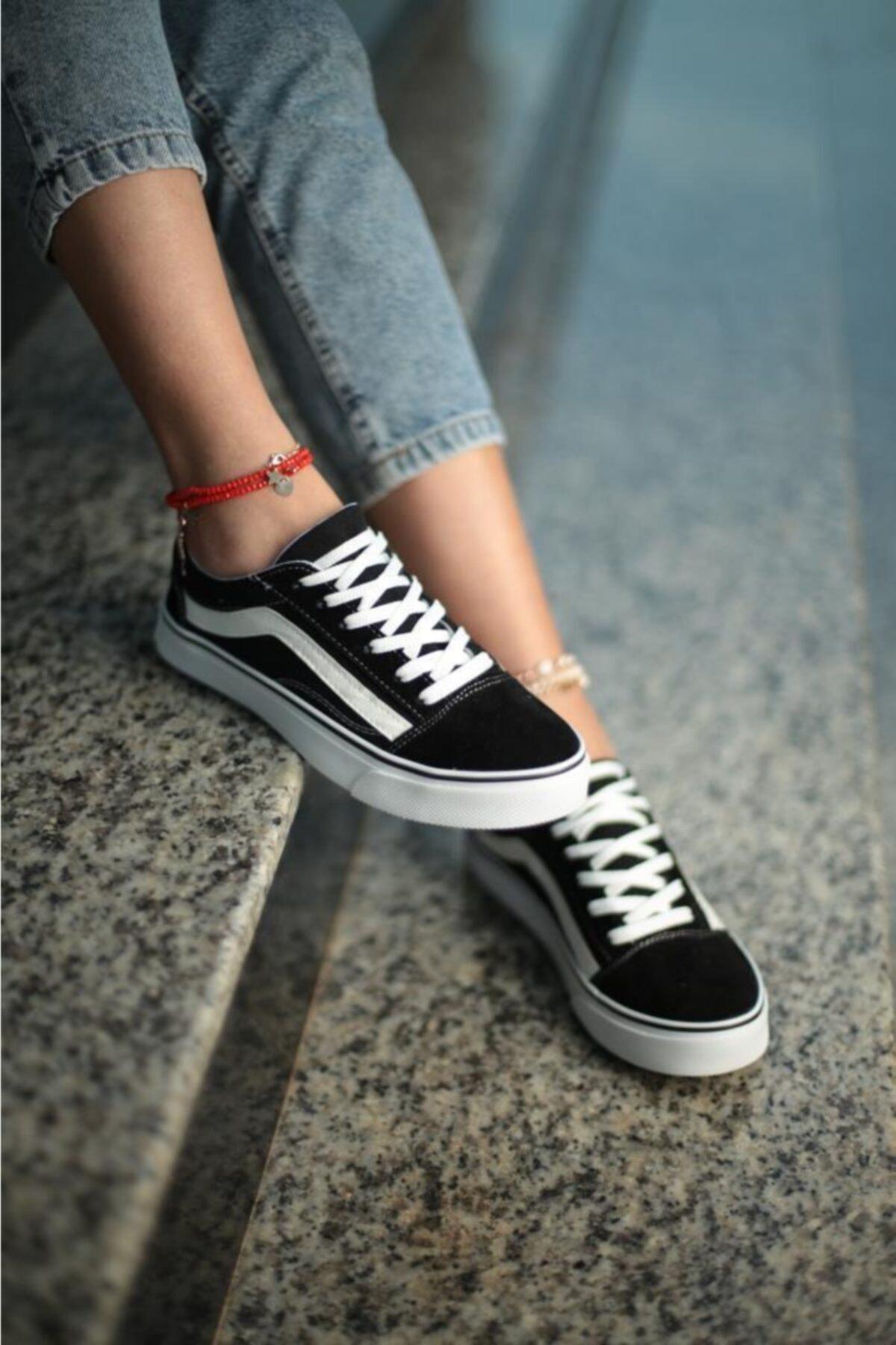 ESPARDİLE Kadın Siyah Beyaz Günlük Spor Ayakkabı 2