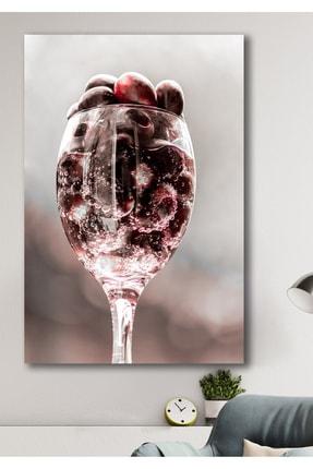 Hediyeler Kapında Bordo Ham Şarap Kanvas Tablo 100x140