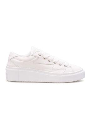 Pegia Kadın Beyaz Hakiki Deri Sneaker La1505