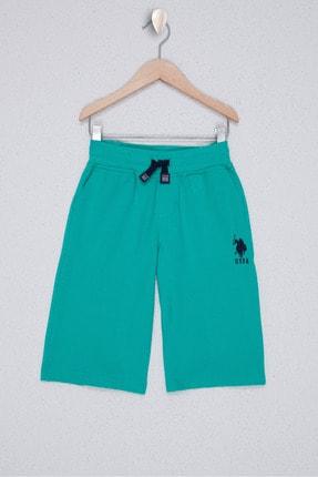 U.S. Polo Assn. Yesil Erkek Çocuk Orme Capri Bermuda