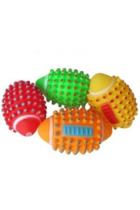 TİNEKE Renkli Kedi Köpek Isırma Topu Sesli Oyuncak ( 1 Adet )