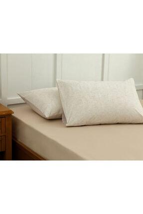 English Home Lace Dream Pamuklu 2'li Yastık Kılıfı 50x70 Cm Bej