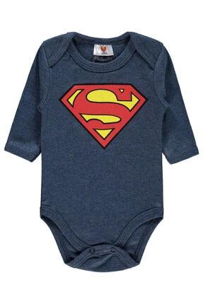 Superman Erkek Bebek Lacivert Çıtçıtlı Badi