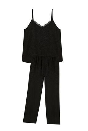 Penti Kadın Siyah Dark Aura Atlet Pantalon Pijama Set