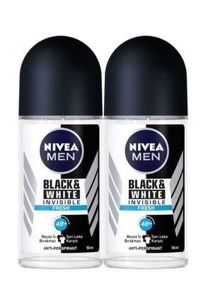 Nivea Nıvea Men Invisible Black&white Fresh Erkek Deodorant Roll-on 50 ml*2 Adet Avantajlı Paket