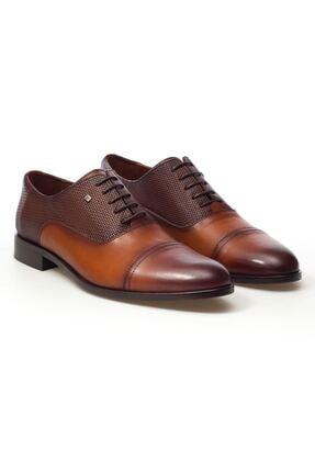 MARCOMEN Taba Hasır Detaylı Hakiki Deri Bağcıklı Erkek Klasik Ayakkabı • A20eymcm0023