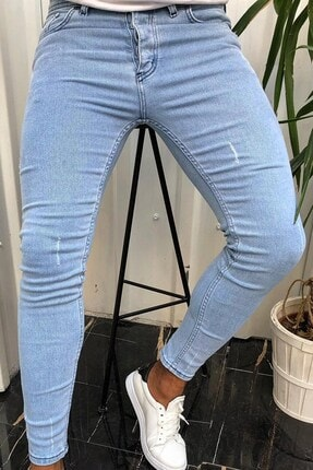 Terapi Men Erkek Slim Fit Jean Kot Pantolon 20y-2100428-01 Buz Mavisi