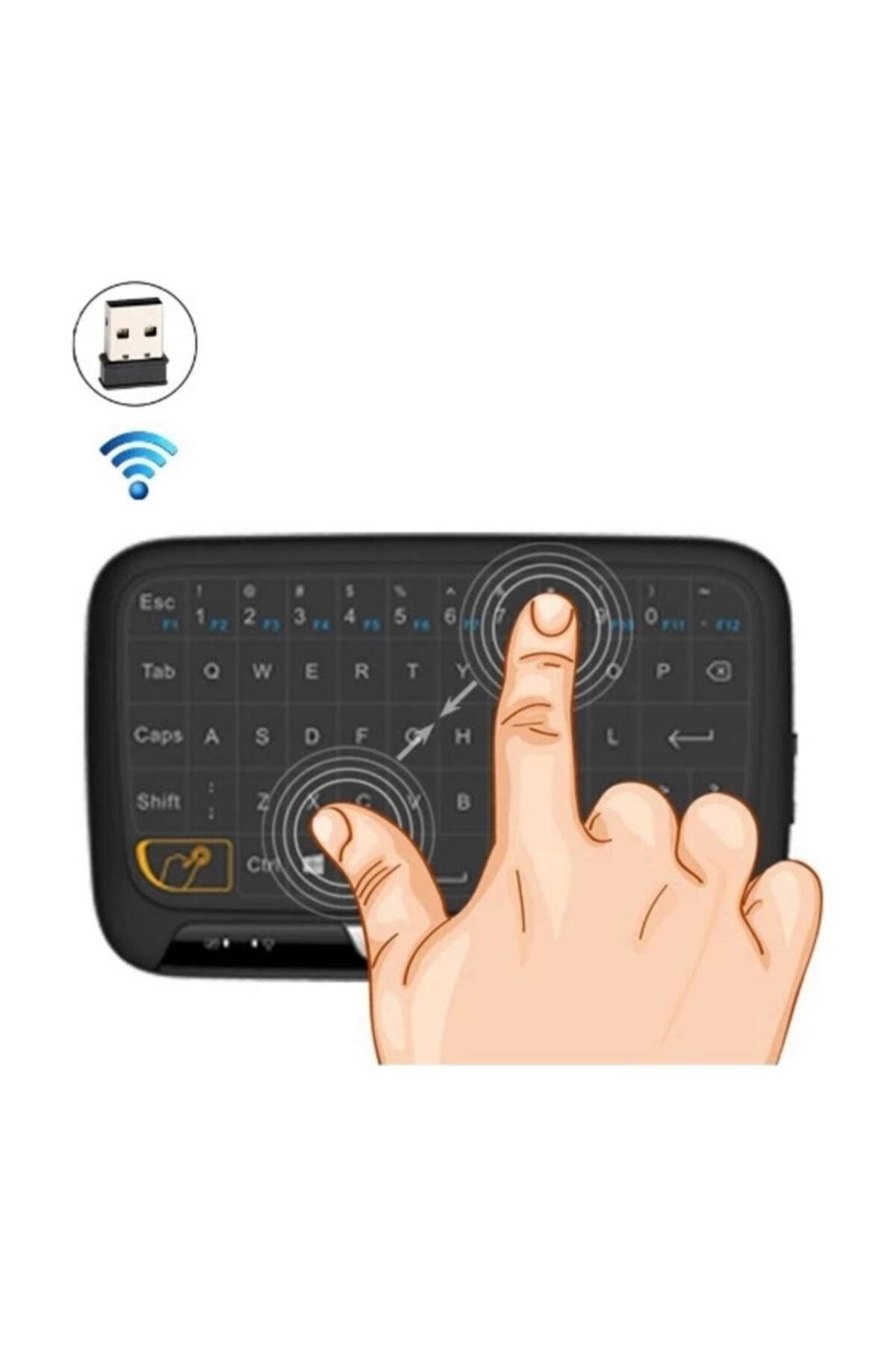 Paleon H18 Kablosuz Mini Klavye Touchpad Şarjlı Smart Tv Dokunmatik Mouse 2