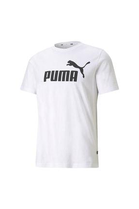 Puma ESS LOGO TEE Beyaz Erkek T-Shirt 101085573
