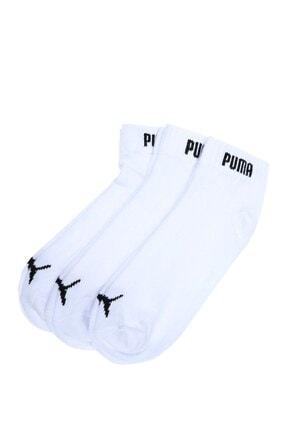 Puma QUARTER-V 3P WHITE Beyaz Unisex Çorap 100040071