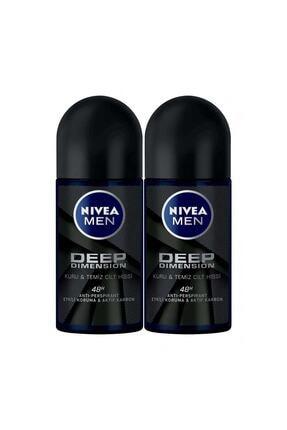 Nivea Men Deep Dımensıon Roll On Deodorant Erkek 50 ml 2'li Avantaj Paketi