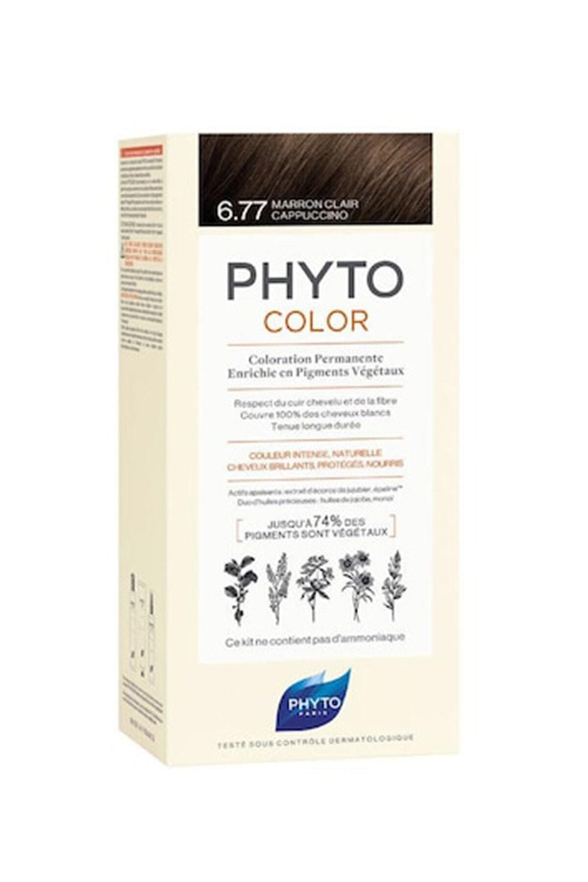 Phyto Color 6.77 - Cappuccino Kahve (Bitkisel Saç Boyası) - 1