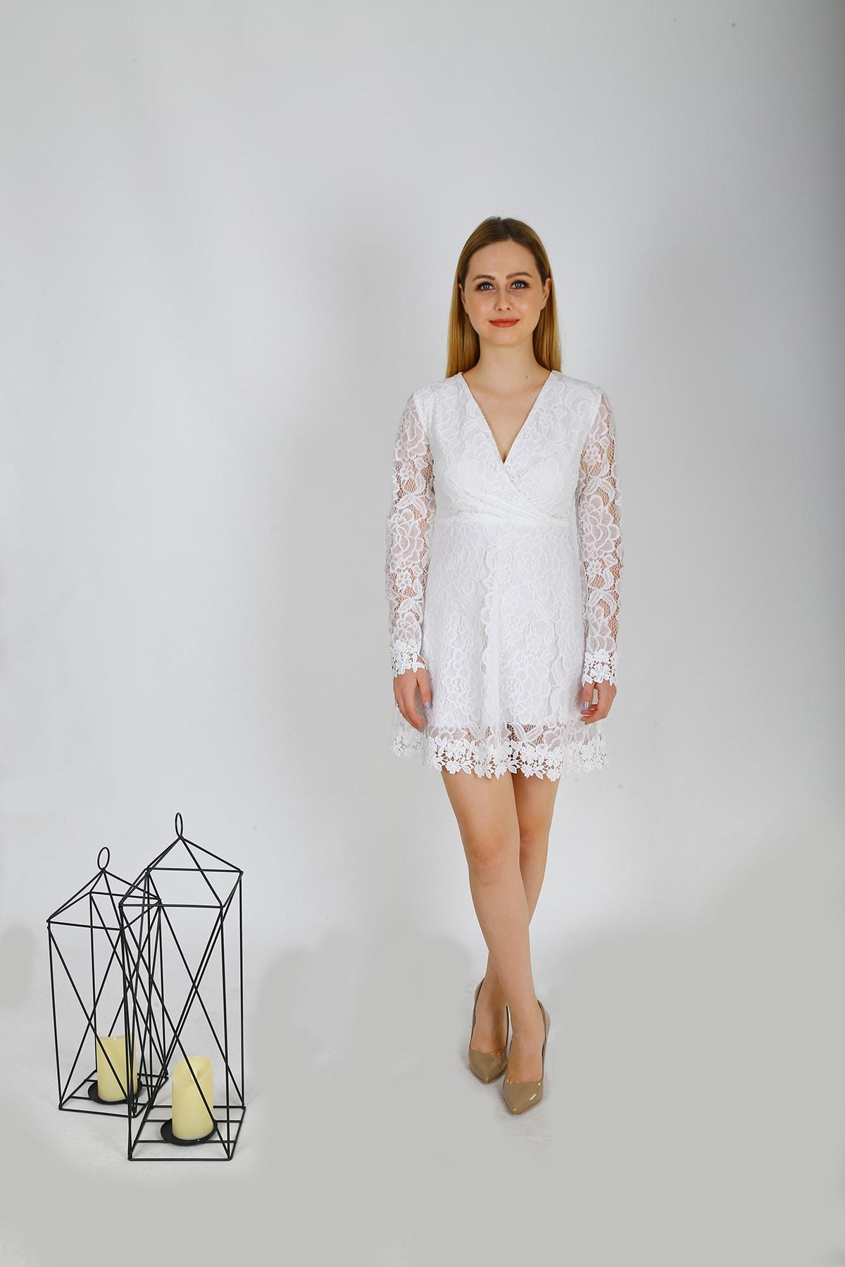 Ahsenserra Morisa Mini Güpür Elbise 2