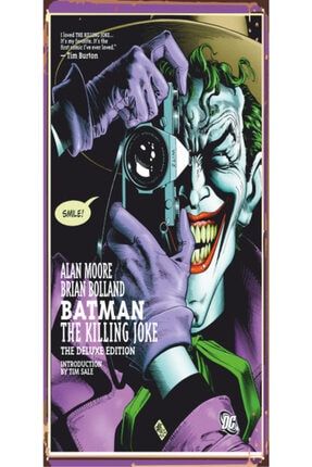 Hayat Poster Batman Joker 10 cm X 20 cm Mini Retro Ahşap Poster