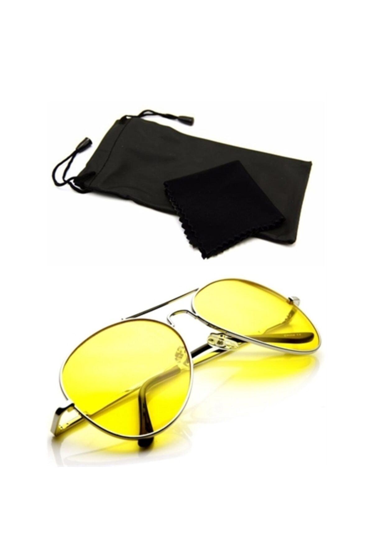 ModaCar Metal Çerçeveli Gece Sürüş ve Sis Gözlüğü 422550 1