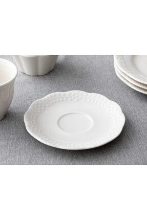 English Home Viyana Porselen Çay Tabağı 12 Cm Açık Krem
