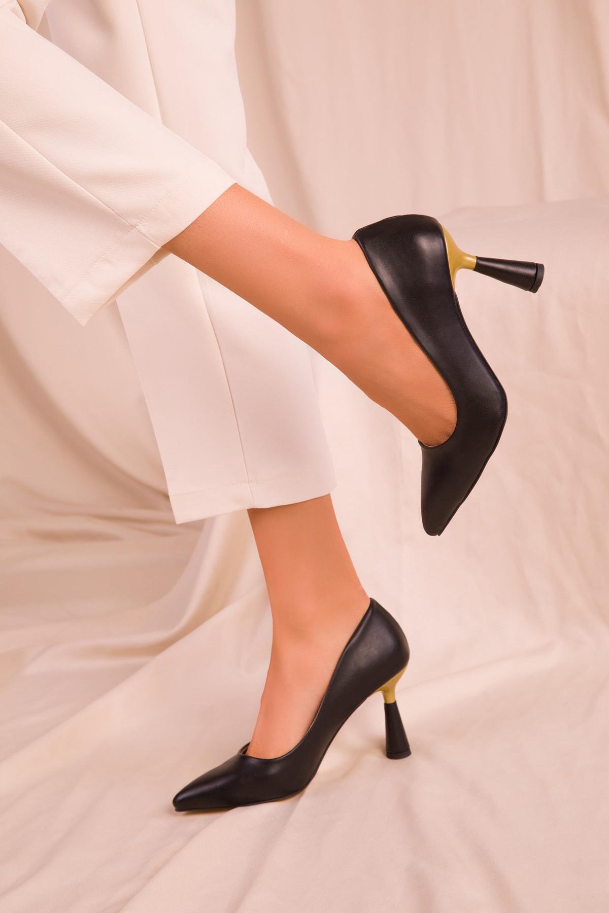 SOHO Siyah Kadın Klasik Topuklu Ayakkabı 15783 1