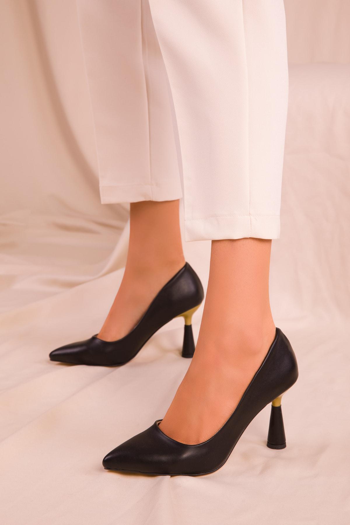 SOHO Siyah Kadın Klasik Topuklu Ayakkabı 15783 2