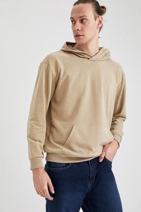 DeFacto Oversize Fit Kapüşonlu Basic Sweatshirt