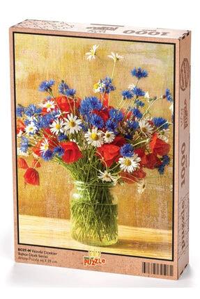 King Of Puzzle Bahçe Çiçek Serisi - Vazoda Çiçekler 1000 Parça Puzzle