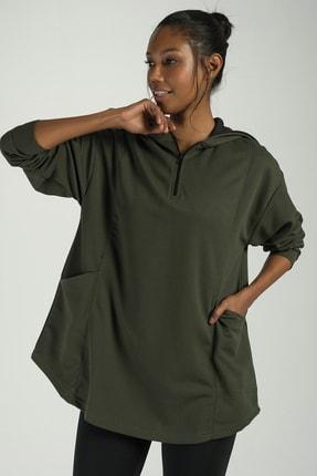 Runever Kadın Haki Sweatshirt