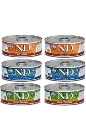 N&D 3 Çeşit Konserve 6adet