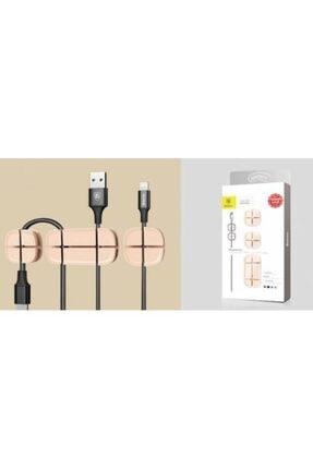 Baseus Polham Kablo Ayırıcı Ve Tutucu, Yapışkanlı Kablo Tutucu, Masa, Yatak Ve Duvar Yapışkanlı