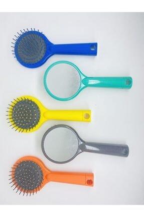 MainStore Yuvarlak Aynalı Saç Fırçası Tarak