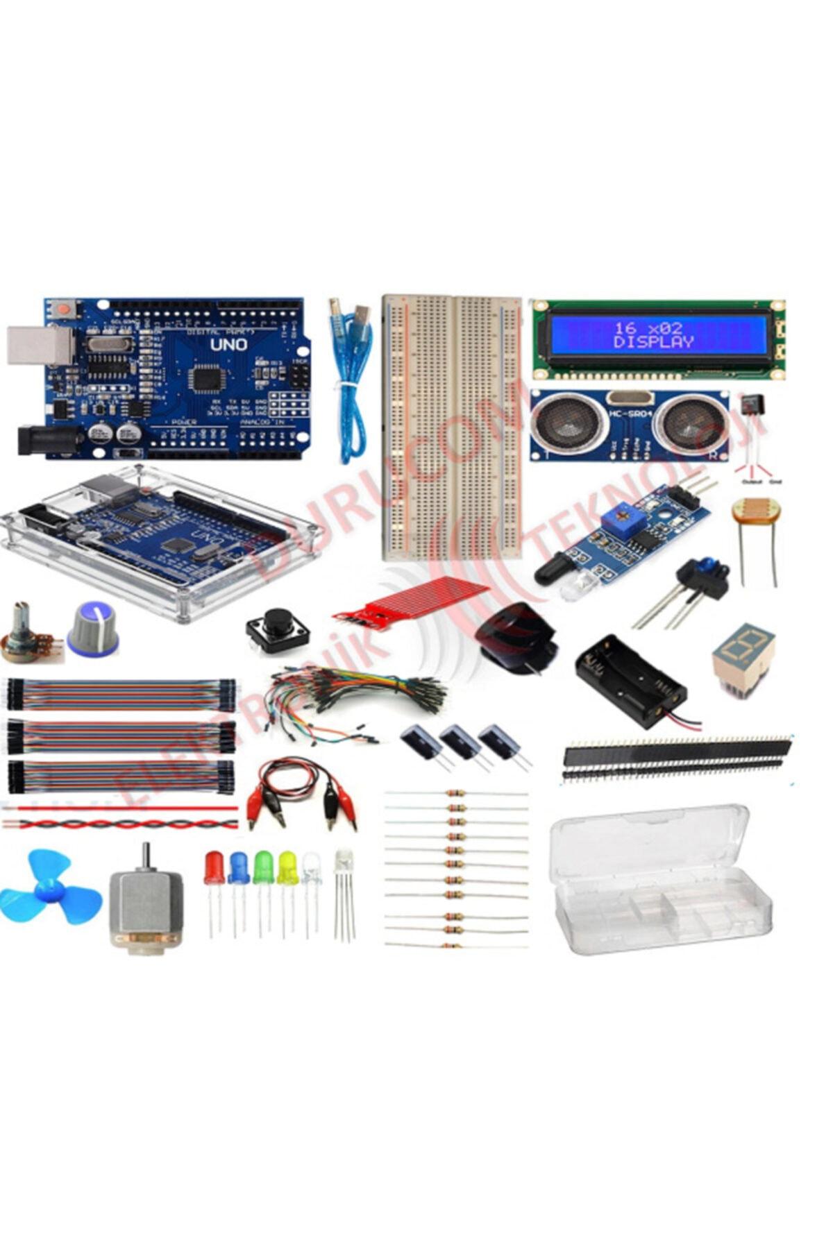 Arduino Uno R3 Başlangıç Seti 51 Parça 181 Adet Eco Set 1