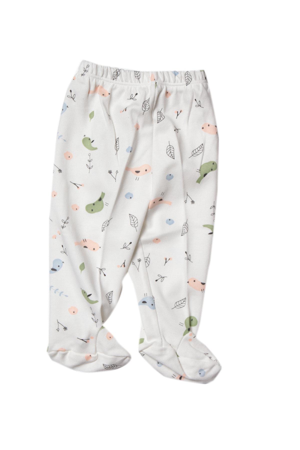 MUDİ BABY Unisex Bebek %100 Pamuk Pijama Altı 1