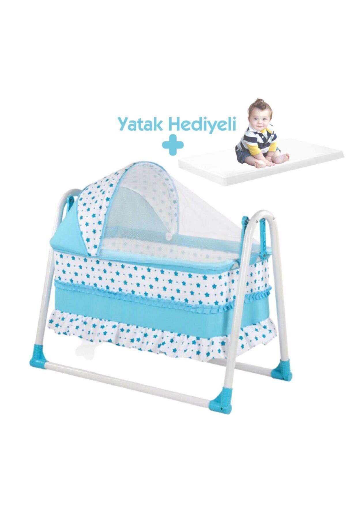 bebegen Elit Portatif Sallanır Bebek Beşik Mavi 1