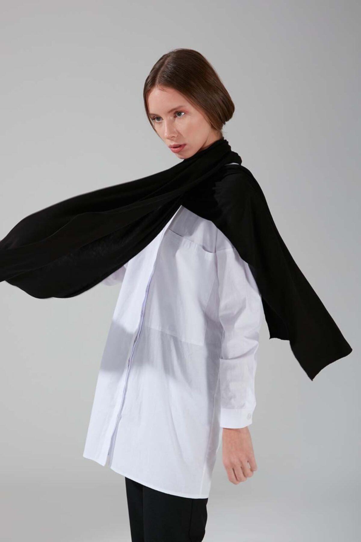 Mizalle Penye Şal (Siyah) 1