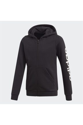 adidas Kız Çocuk Siyah Fermuarlı Üst Sweatshirt