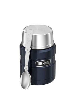 Thermos Sk3000 Çelik Yemek Termosu 470ml. Gece Mavisi