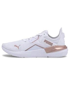 Puma Kadın Platinum Metallic Wns Günlük Spor Ayakkabı 19377302-beyaz