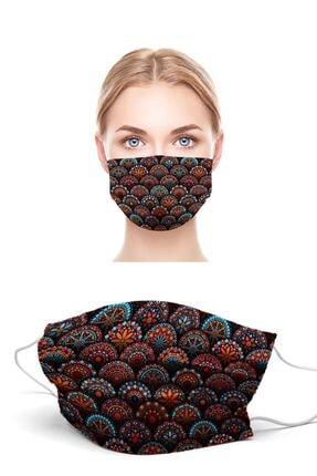 Puumask Mandala Desenli Yıkanabilir Yeni Nesil Kumaş Telli Bez Maske