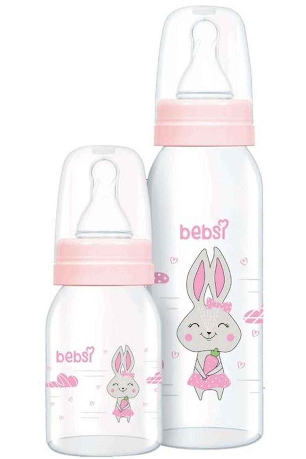 Wee Baby Bebsi Cam Biberon Seti (250ml+125ml) - Pembe 1